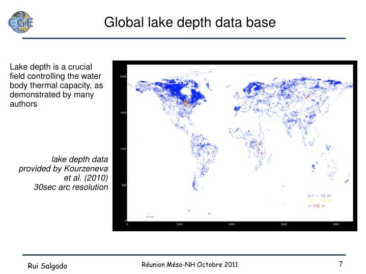 Global lake depth data base