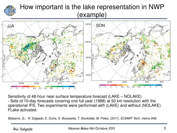 How important is the lake representation in nwp example