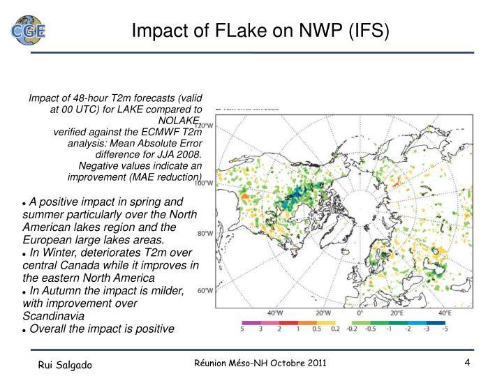 Impact of FLake on NWP (IFS)