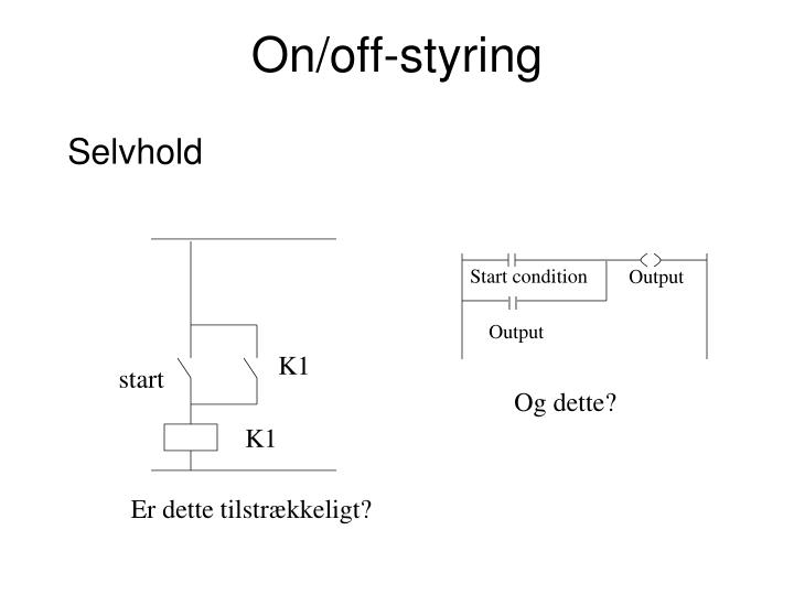 On/off-styring