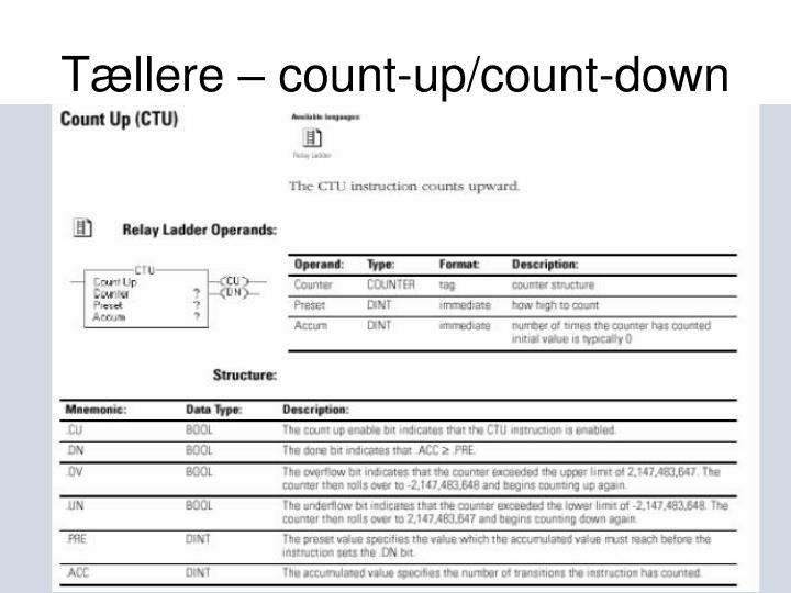 Tællere – count-up/count-down
