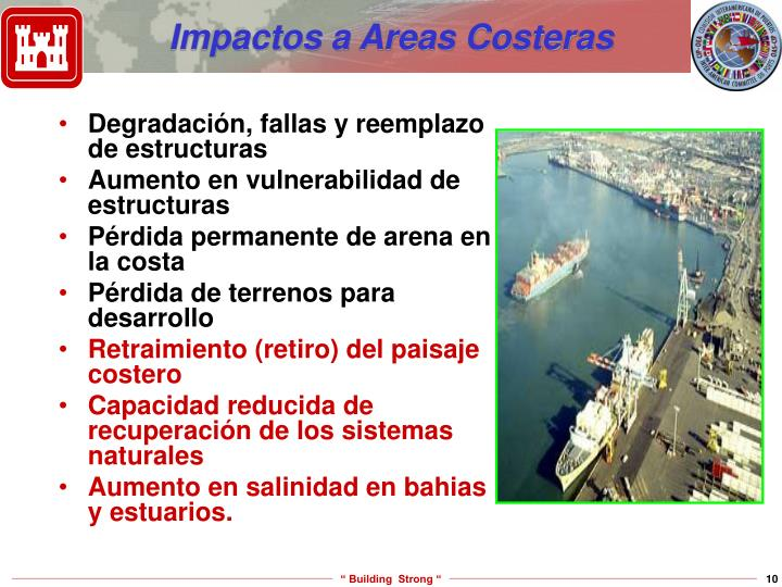 Impactos a Areas Costeras
