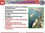 impactos a areas costeras