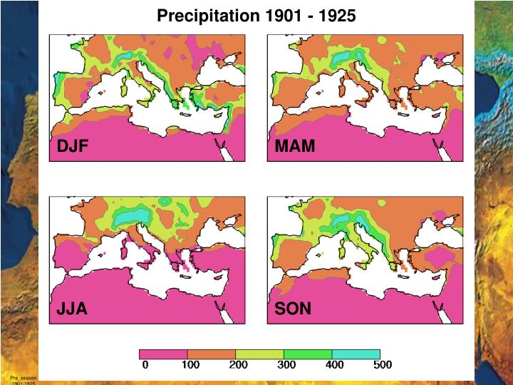 Precipitation 1901 - 1925