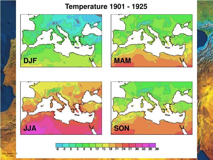 Temperature 1901 - 1925