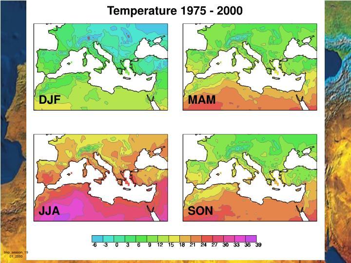 Temperature 1975 - 2000