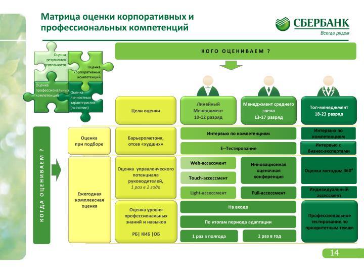 Матрица оценки корпоративных и профессиональных компетенций