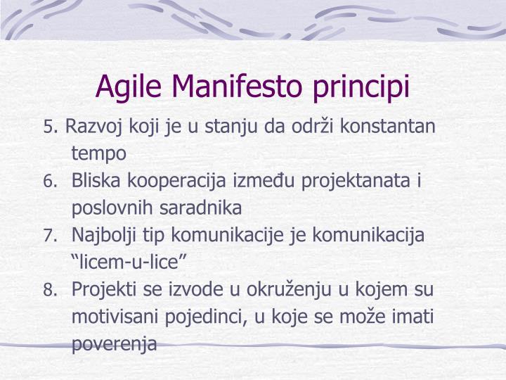 Agile Manifesto principi