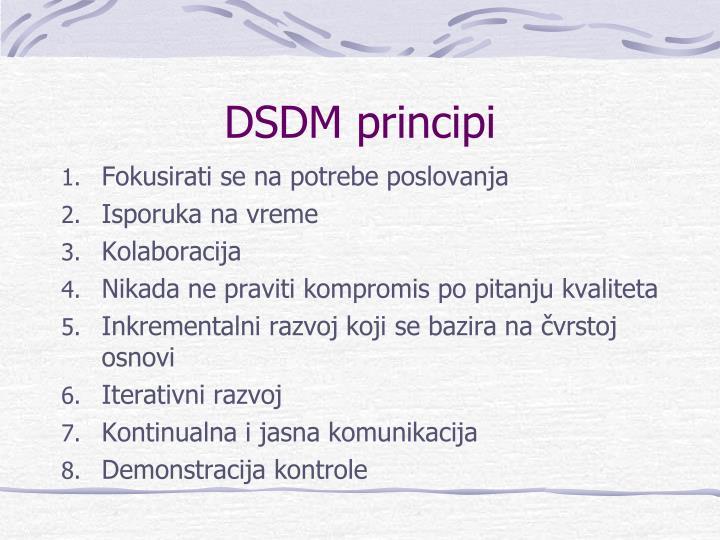 DSDM principi