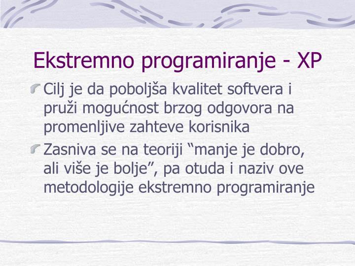 Ekstremno programiranje - XP