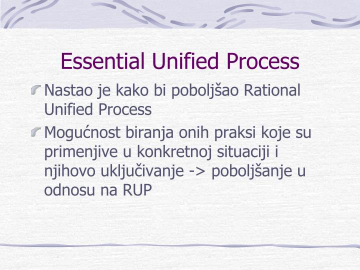 Essential Unified Process