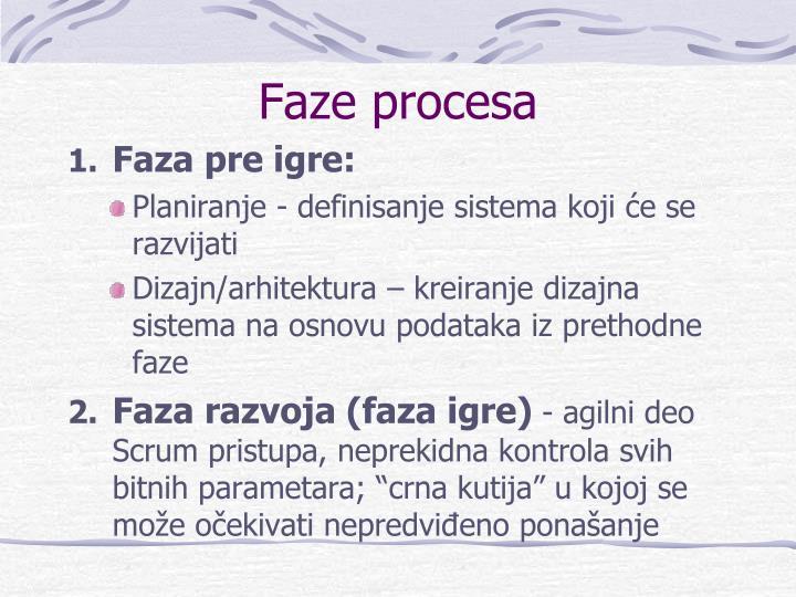 Faze procesa