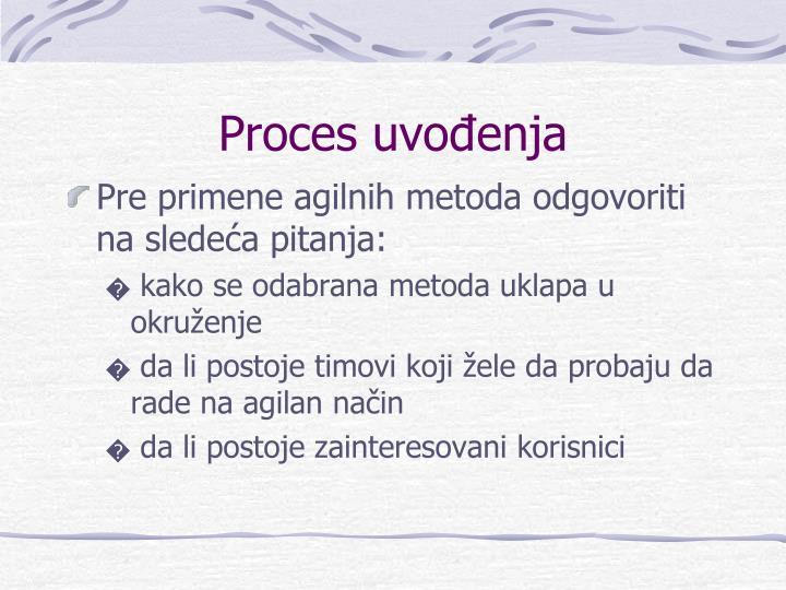 Proces uvođenja