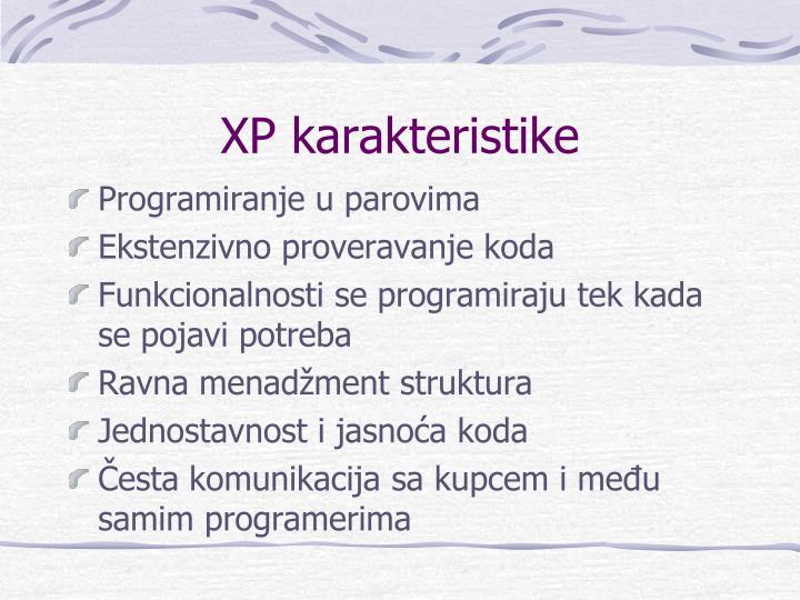 XP karakteristike