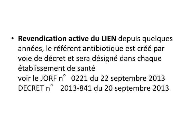 Revendication active du LIEN