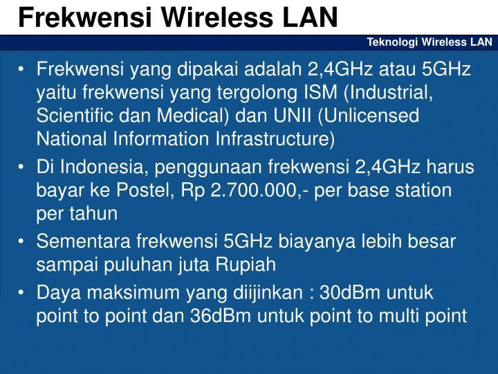Frekwensi Wireless LAN