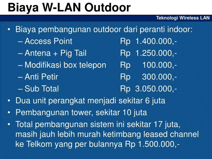 Biaya W-LAN Outdoor