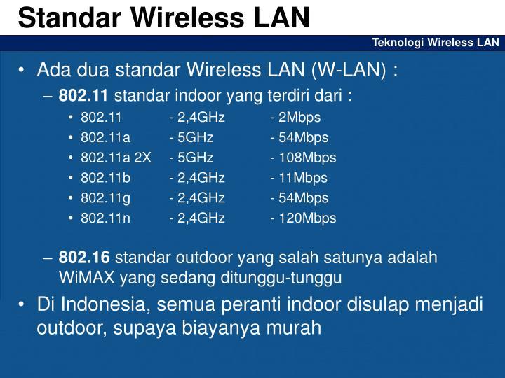 Standar Wireless LAN