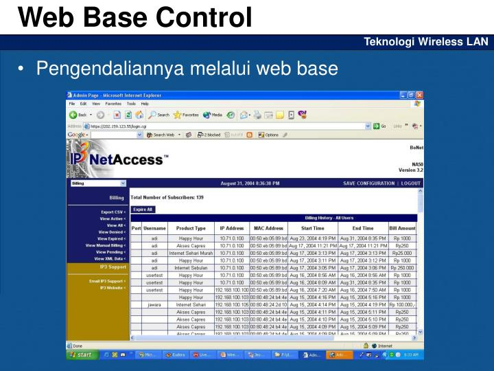 Web Base Control
