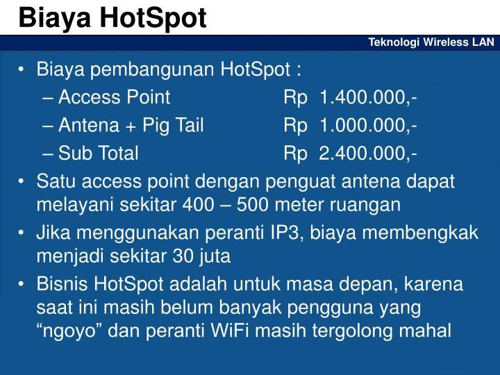 Biaya HotSpot
