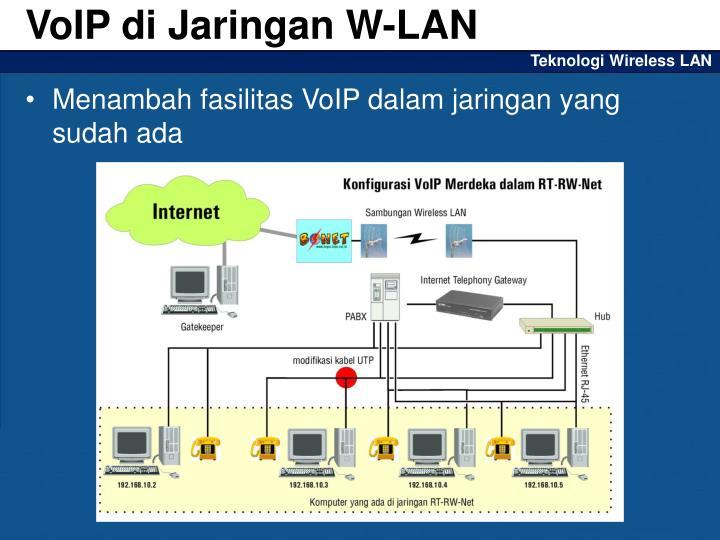 VoIP di Jaringan W-LAN