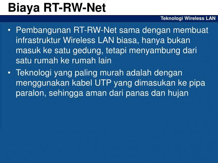 Biaya RT-RW-Net