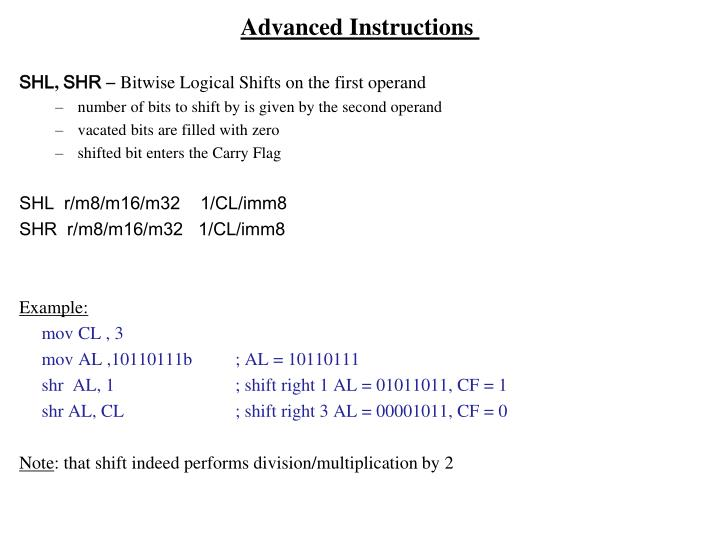 Advanced Instructions
