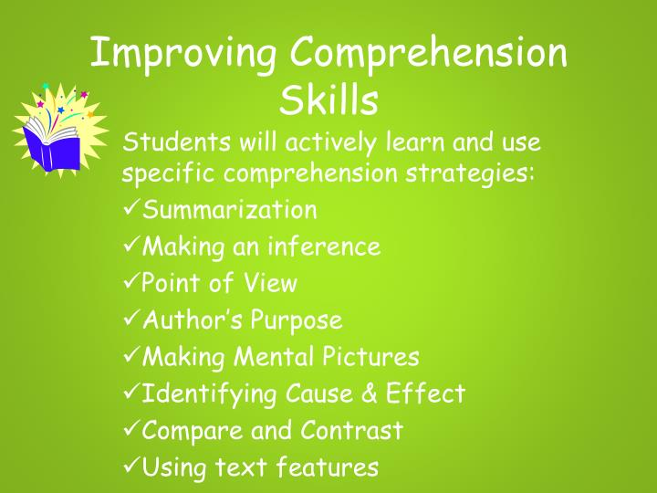 Improving Comprehension Skills