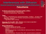 interferences with diffusion anemia caused by increased erythrocyte destruction4