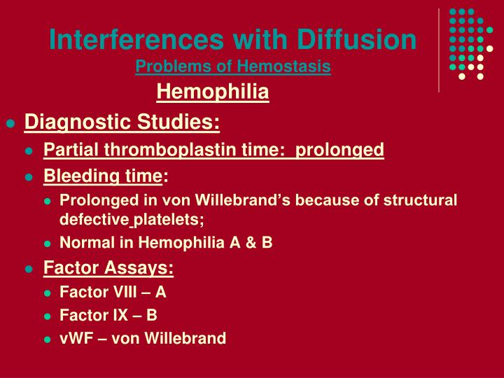 Interferences with Diffusion