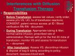 interferences with diffusion transfusion therapy