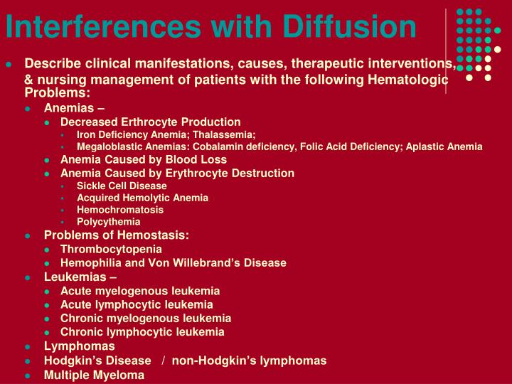Interferences with diffusion1