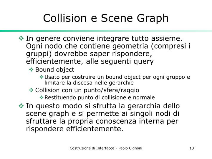 Collision e Scene Graph