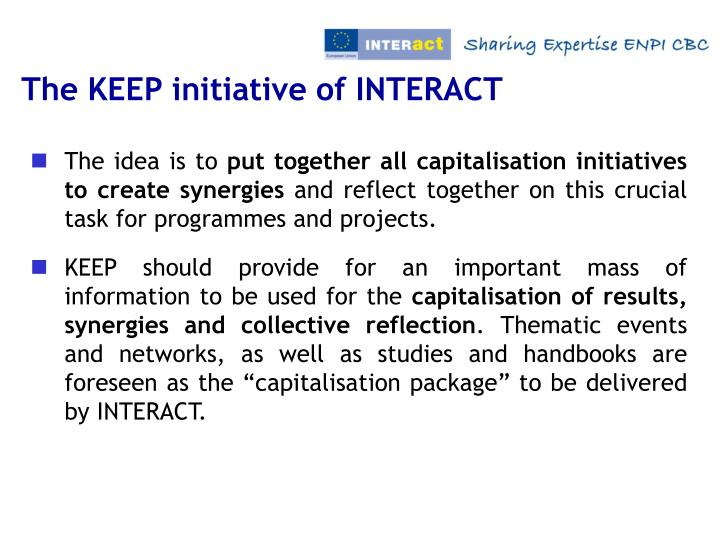 The KEEP initiative of INTERACT