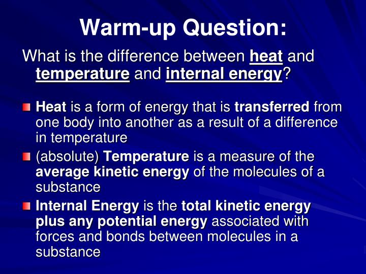Warm-up Question: