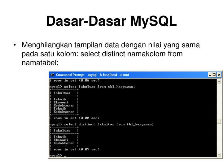 Dasar-Dasar MySQL