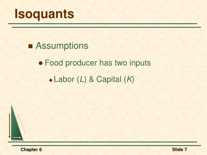 Isoquants