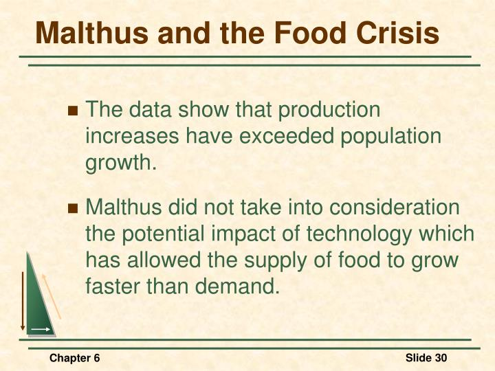 Malthus and the Food Crisis