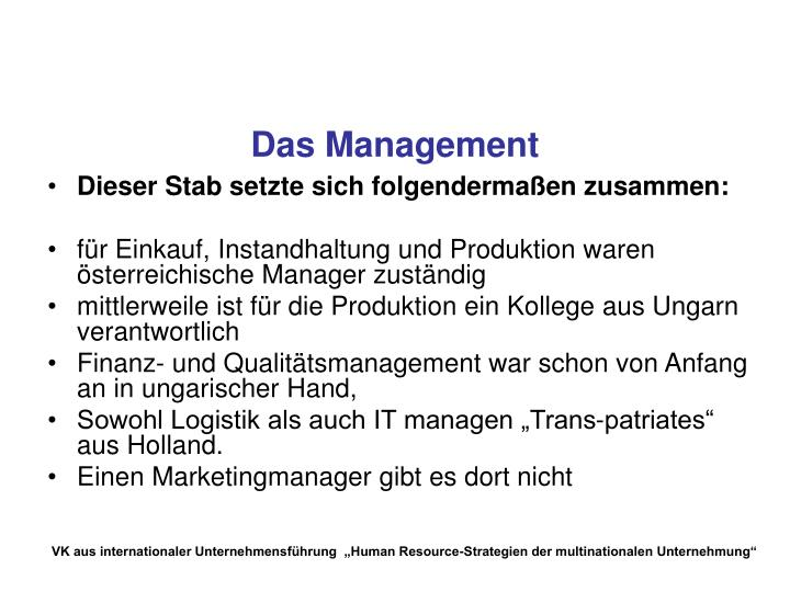 Das Management