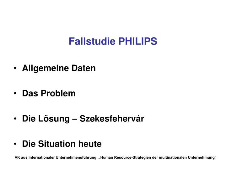 Fallstudie PHILIPS