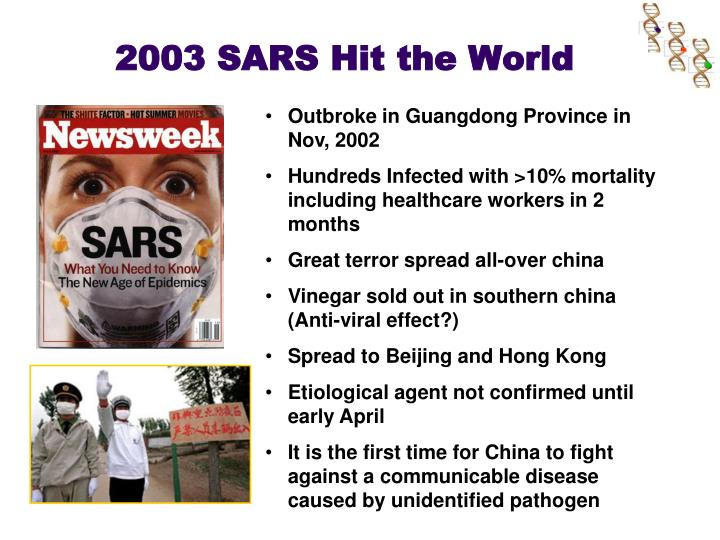 2003 sars hit the world