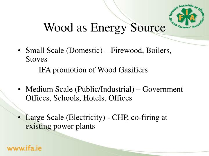 Wood as Energy Source