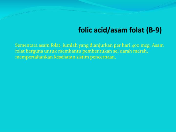 folic acid/