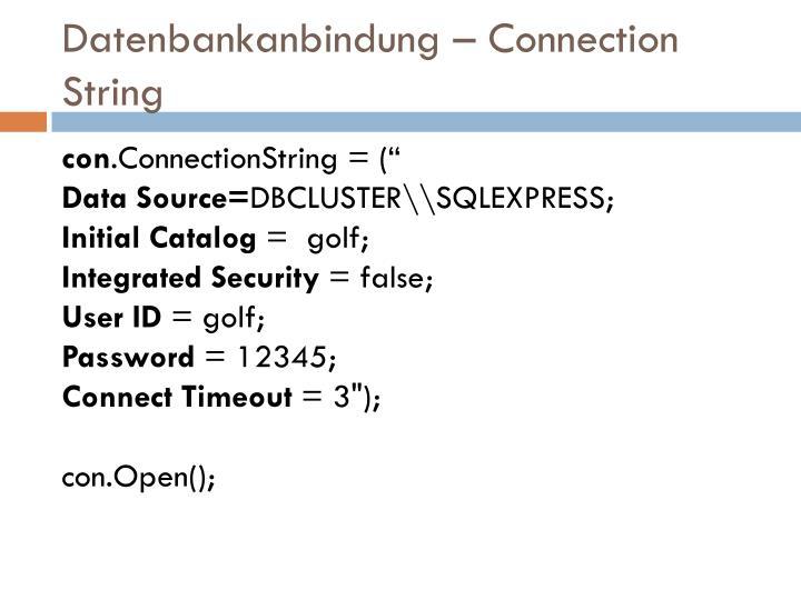 Datenbankanbindung