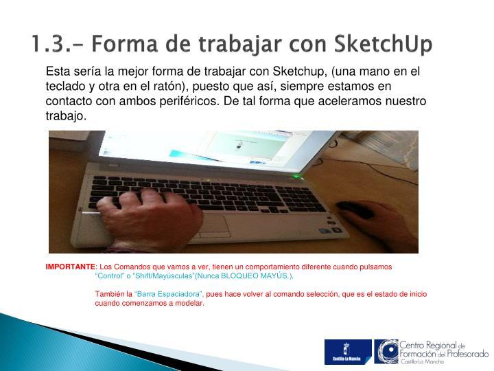 1.3.- Forma de trabajar con SketchUp