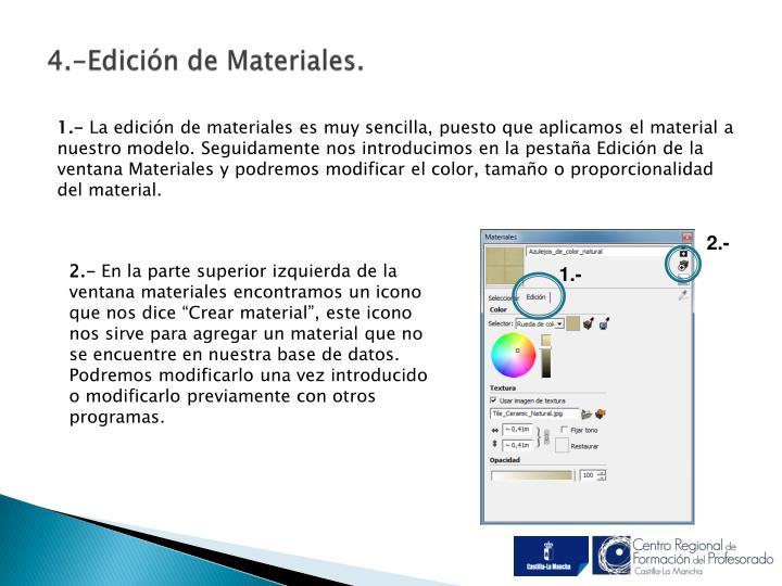 4.-Edición de Materiales.
