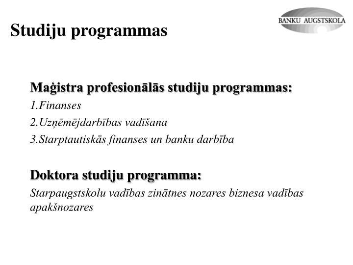 Studiju programmas