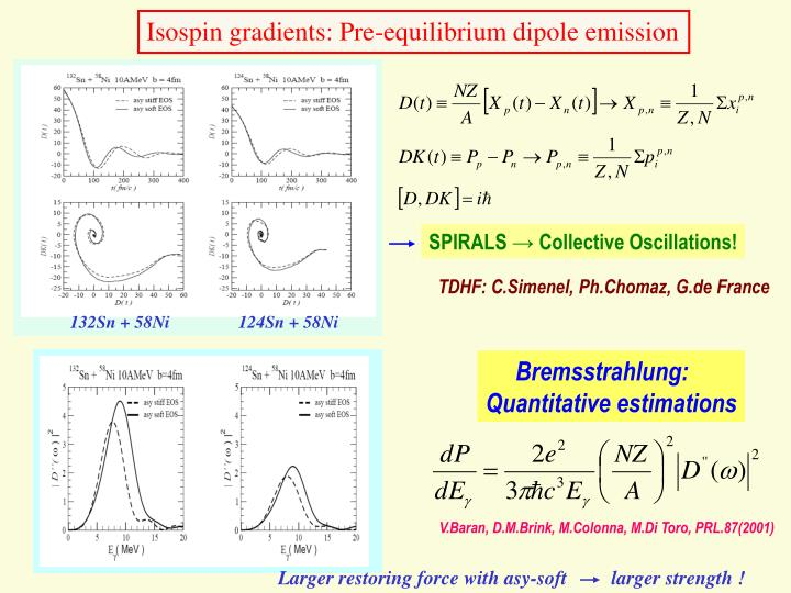 Isospin gradients: Pre-equilibrium dipole emission