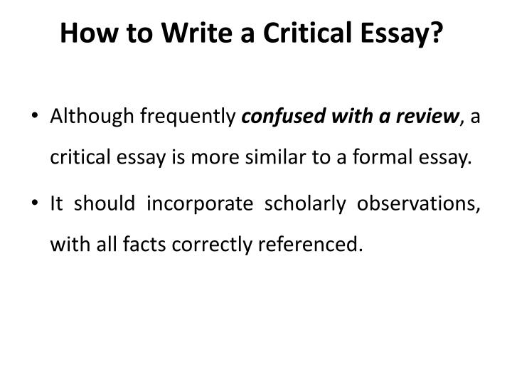 how to write a critical essay