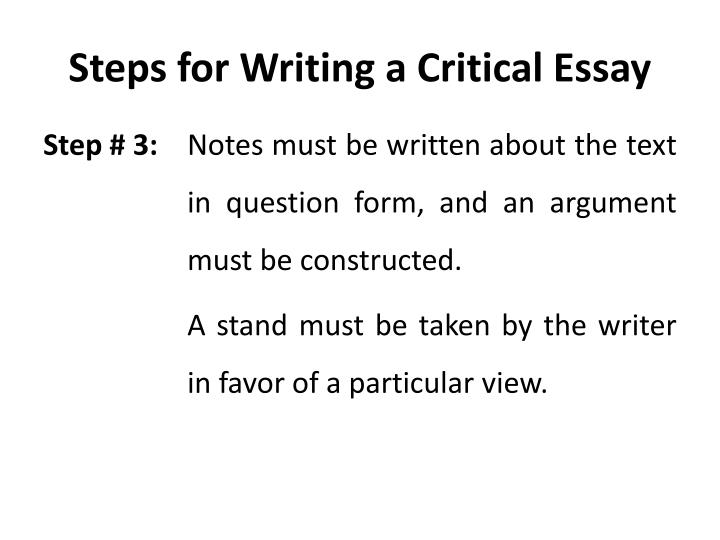 Steps in writing an argumentative essay